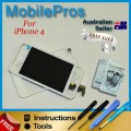 iPhone 4 LCD and touch screen assembly + button [Transparent White frame]