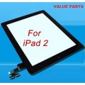 iPad 2 touch screen with home button assembly and adhesive tape attached [Black]