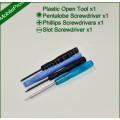 Tools pack 1 - T5, T6, Phillips Heard Size 0, Slot Head Size 0, Pentalobe, Plastic Opening tool