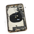 iPhone XS Housing with Back Glass, Charging Port and Power Volume Flex Cable [Gold][Aftermarket]