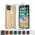 Air Bag Cushion DropProof Crystal Clear Soft Case Cover For iPhone 11 Pro Max [Black]