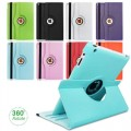 360 Rotate Color Leather Case For iPad 10.2/2019 [Dark Blue]