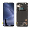 Samsung A40 OLED and Touch Screen Assembly with frame [Black]