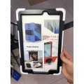 """Heavy Duty Rugged Protective Case With a 360 Degree Swivel Stand for iPad 10.2""""/2019 [White]"""