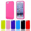 Soft TPU Rubber Jelly Gel Slim Phone Case for iPhone 5/5S [Red]
