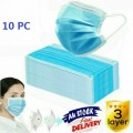 10 Pcs Disposable Face Mask Anti Dust Personal Protective Mask 3 Layer Ear Loop