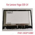"""Lenovo Yoga 530-14IKB 14"""" FHD (1920x1080) 30 pin NV140FHM-N48 LCD and touch Laptop Screen with Frame"""