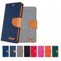 Mercury Goospery Canvas Diary Case for Samsung Galax S20 [Grey / Camel]