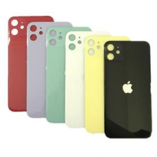 iPhone 11 Back Cover Glass with Big hole Aftermarket [Black]
