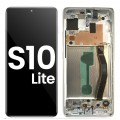 Samsung Galaxy S10 Lite SM-G770F OLED and Touch Screen Assembly with frame [Silver]