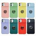 Slide Camera Lens Protection Kickstand Soft Case for iPhone XR [Light Blue]