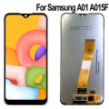 Samsung Galaxy A01 SM-A015 PLS and Touch Screen Assembly {Flex Cable Narrow} [Black]