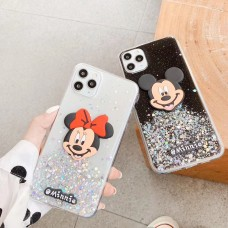 Bling Glitter Mickey Soft TPU Case for iPhone X/XS [Black]