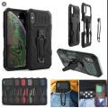 i-Crystal Mecha Warrior Back Clip Series Case For iPhone XR [Blue]