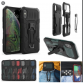 i-Crystal Mecha Warrior Back Clip Series Case For iPhone XR [Rust Red]