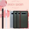 Mercury Goospery Peach Garden Bumper Case for Samsung Galax S10 Plus [Black/Red]