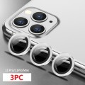 3PC Rear Camera Lens set for iPhone 11 Pro / 11 Pro Max [Silver]