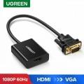 UGreen VGA to HDMI Adapter Cable - Black