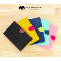 Mercury Goospery Fancy Diary Case For Apple iPad Mini (2019) / Mini 5 [Brown / Black]