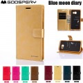 Goospery BLUEMOON DIARY Case for Samsung Galax A21s A217 [Navy]