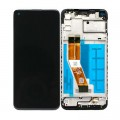 Samsung Galaxy A11 SM-A115 PLS TFT and Touch Screen Assembly with frame [Black]
