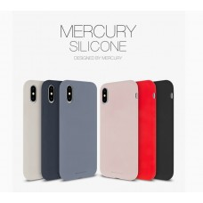 "Goospery Mercury Silicone Case for iPhone 12 (5.4"") [Levender Grey]"