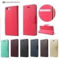"""Mercury Goospery BRAVO DIARY Case for iPhone 12 Mini (5.4"""") [Wine]"""