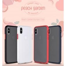 "Goospery Peach Garden Bumoer Case for iPhone 12 (5.4"") [Navy /Navy]"
