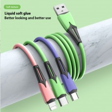 1 to 3 Soft glue charging cable 30cm