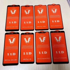 5D Full Cover Tempered Glass Screen Protector For iPhone 6/7/8/SE 25 Pack [Black]