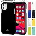 """Mercury Goospery Jelly Case for iPhone 12 / 12 Pro (6.1"""")  [Hot Pink]"""