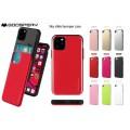 "Mercury Goospery SKY Slide Bumper Case for iPhone 12 / 12 Pro (6.1"")  [Silver/Black]"
