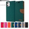 "Mercury Goospery Canvas Diary Case for iPhone 12 / 12 Pro (6.1"")  [Black]"
