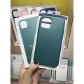 """Luxury Leather Cover Ultra-Thin Back Case For iPhone 12 ProMax 6.7"""" [Gray]"""