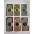 """Skin Touch Feel Case with Ring Holder For iPhone 12 Mini 5.4"""" [Red]"""