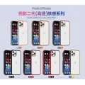 High Transparent Case with TPU Soft Rubber Frame For iPhone 12/12 Pro [Black-Red]