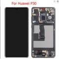 Huawei P30 OLED and Touch Screen Assembly with frame[Black]