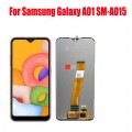 Samsung Galaxy A01 SM-A015 PLS IPS and Touch Screen Assembly {Flex Cable wide}  [Black]