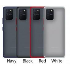 Mercury Goospery Peach Garden Bumper Case for Samsung Galax A12 A125 [Black/Red]