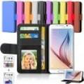 Leather Wallet Case For Samsung S21 [Black]