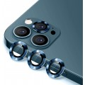 3PC Rear Camera Lens with Cover Set for iPhone 12 Pro Max [Pacific Blue]