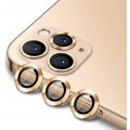 3PC Rear Camera Lens with Cover Set for iPhone 12 Pro Max [Gold]