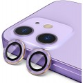 2PC Rear Camera Lens with Cover Set for iPhone 12 / 12 Mini [Purple]