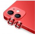 2PC Rear Camera Lens with Cover Set for iPhone 12 / 12 Mini [Red]