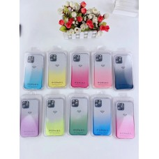 Gradient Shockproof Clear Case For Iphone 7/8/SE [Black]