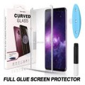 UV Light Curved Full Glue Tempered Glass Screen Protector for Samsung S21
