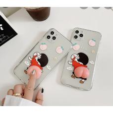 Cute 3D Elastic Squishy Butt Decompress Case For iPhone 7/8 [Clear]