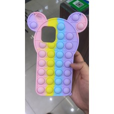 Pop Fidget Toys Push It Bubble Phone Case For iPhone XR [Micky]