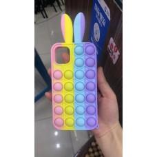 Pop Fidget Toys Push It Bubble Phone Case For iPhone 6/6S/7/8/SE [Rabbit]