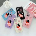 """Cute 3D Elastic Squishy Butt Decompress Case For iPhone 12 6.1"""" [Sand Pink]"""